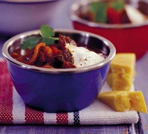 Estofado de ternera picante con alubias y pimientos